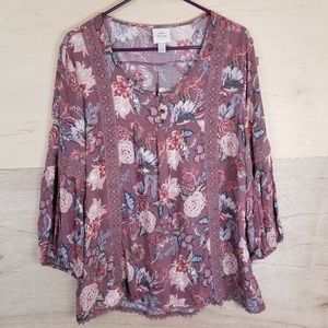 Knox Rose Floral Crochet Blouse